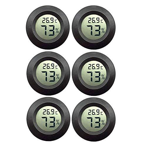 JEDEW 6-pack Hygrometer Thermometer Digital LCD-Monitor für Keller Feuchtigkeits-Messgerät, für Luftentfeuchter der humidifiers babyroom Gewächshaus Zigarre
