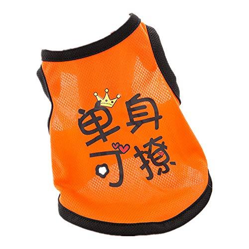 YGJKLIS - Camicia per cani con stampa carina, 2 pezzi, in cotone traspirante estivo senza maniche, per cani di piccola taglia e media (XXL, blu nero)