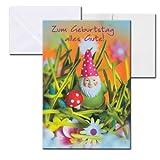 Cartolini Aufklappkarte Karte Sprüche Zitate Briefumschlag Geburtstag Gartenzwerg 17,5x12 cm