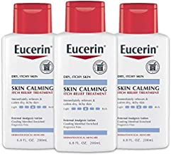 Eucerin Skin Calming Itch Relief Lotion - Full Body Lotion for Dry, Itchy Skin - 6.8 fl. oz. Bottle (Pack of 3)
