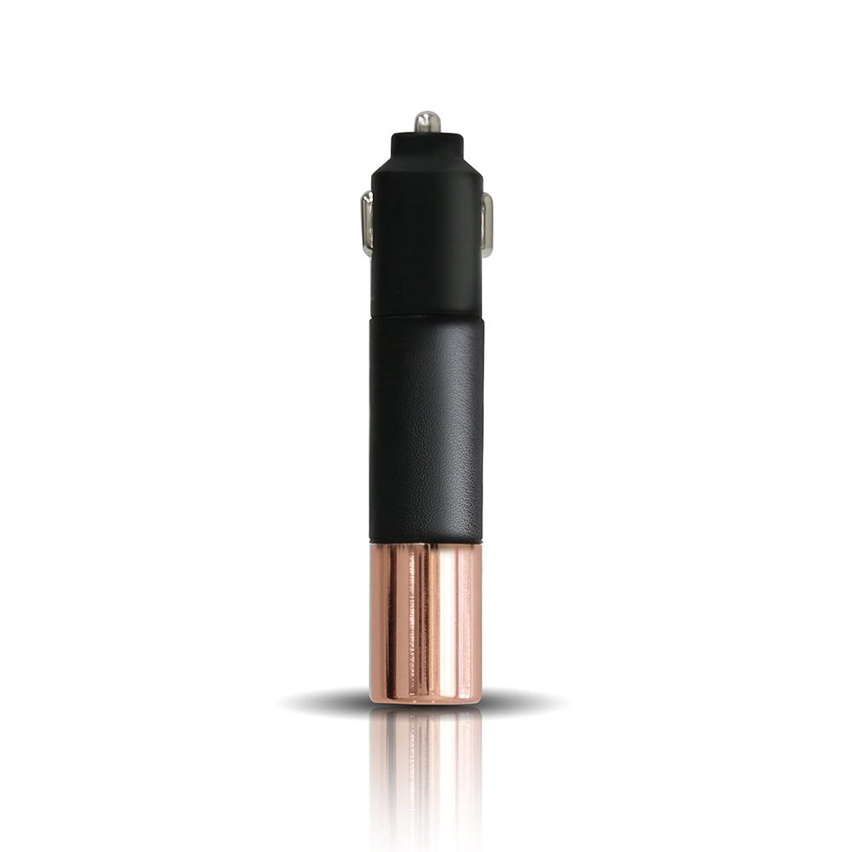 救出アウトドア少数PRISMATE(プリズメイト) Driving Aroma Diffuser Leather and Metal PR-AD02C (BK(ブラック))