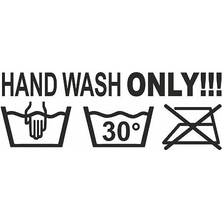 Schönheits Shop Hand Wash Only Shocker Dapper Auto Aufkleber Sticker Tuning Stickerbomb Turbo Auto