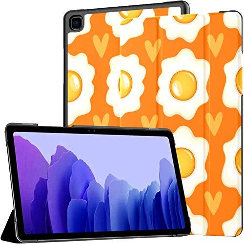 Funda de piel sintética para Samsung Galaxy Tab A7 de 10,4 pulgadas de 2020, diseño de huevo frito