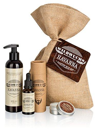 Set de soins pour barbe de grande qualité contient huile à barbe, cire de barbe et savon pour la barbe de Wildwuchs Bartpflege d'Allemagne
