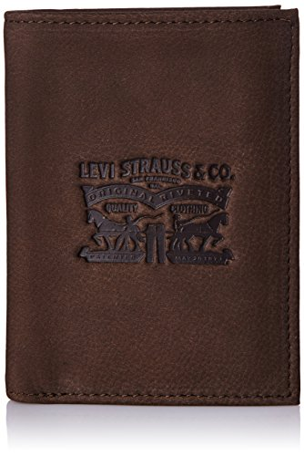 LEVIS FOOTWEAR AND ACCESSORIES Vintage Two Horse Vertical, Monedero para Hombre, Marrón (Dark Brown), 13x2x10 centimeters (W x H x L)