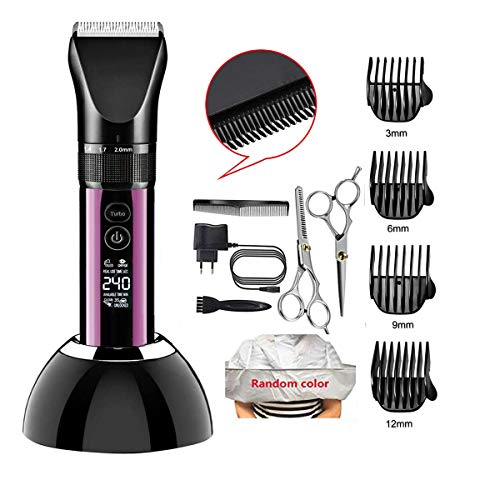 Hair Clippers for Men Cordless Hair Trimmer Beard Trimmer Professional Haircut & Grooming Kit Rechargeable, LED Display