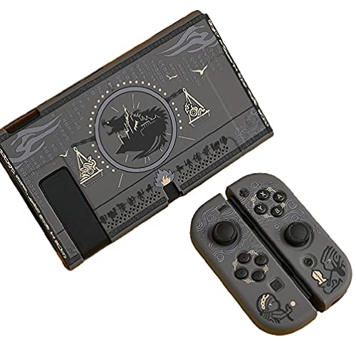 Huhudde Protective Split Shell Mysterious Egypt Pharaoh Case Hard Cover Back PC Girp for Nintend Switch Console Joystick Holder