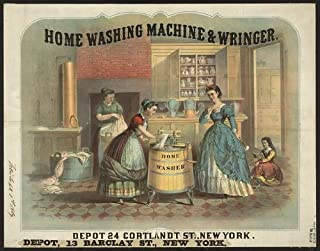 Photo Reprint Home washing machine and wringer 1869