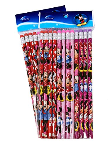 Disney Minnie Mouse Wood Pencils, 2 Packs of 12