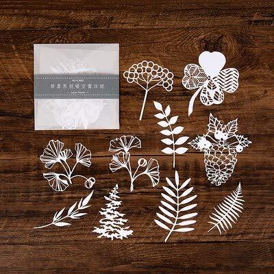 10 pcs/bag Hollow Out Lace Paper Ballet butterfly Flower Lace Retro Decorative Sticker DIY Scrapbooking Label Diary Album