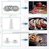 Elektrischer Fleischwolf 2000W, Wurstfüller Multi Küchenmaschine, Wurstmacher mit 3 Mahlplatten und Wurstfüllrohren für den Hausgebrauch, Edelstahl Wurstmaschine/Schwarz - 3