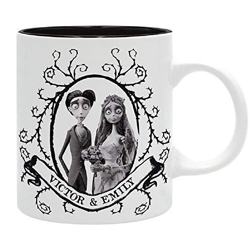 Corpse Bride - Victor & Emily - Kaffeebecher - Logo - Mug - keramik - Geschenkbox