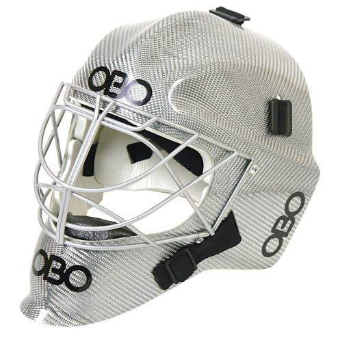 OBO Robo FG Field Hockey Goalie Helmet - Silver Fiber-L