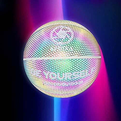 Laiashley Baloncesto reflectante holográfico, brillante, luminoso, regalos de baloncesto para niños y niñas, juguete perfecto