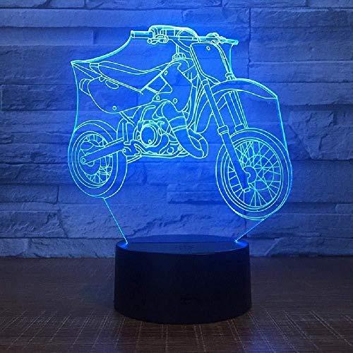 3D Illusion 7 Color Touch Placa de metacrilato apta para motocicleta ren 7 colores Lámpara de escritorio táctil cambiante para niños Cumpleaños Regalos de Navidad