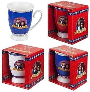 Toyland® Pack Of 2-2018 Harry & Meghan Royal Wedding Commemorative Tulip Shape Mug - Royal Wedding Souvenirs