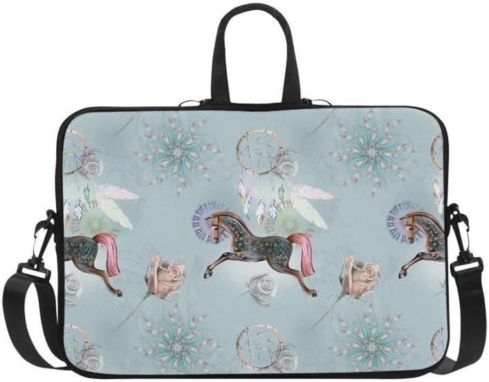 Laptop Sleeve Case 14 14.1 Inch Lovely Horses Resistant Neoprene Laptop Sleeve Notebook Computer Pocket Case Tablet Briefcase Carrying Bag Laptop Shoulder Bag