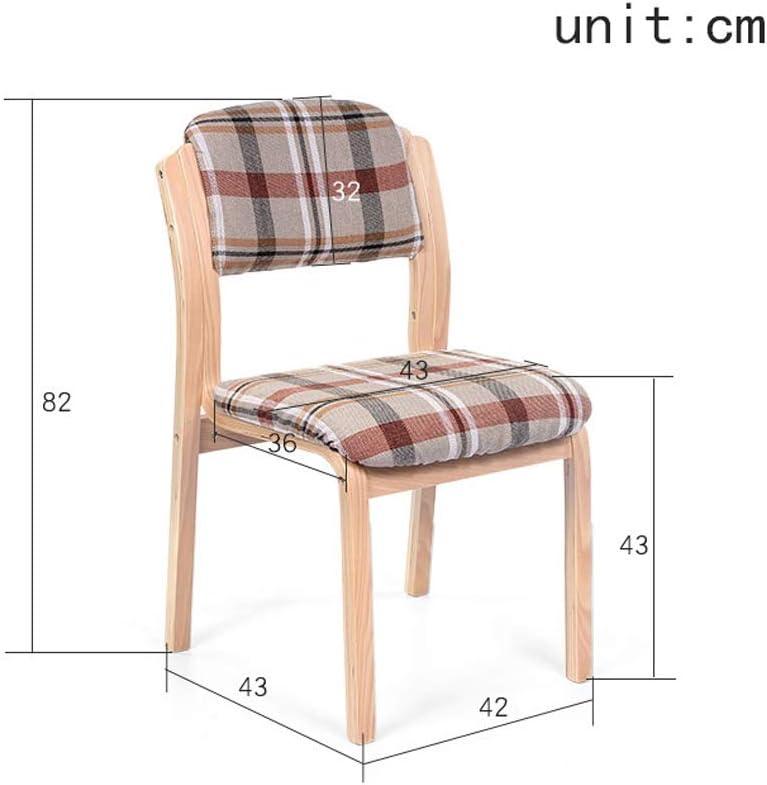 Tissu à la maison avec la chaise dinante de dossier, chaise de bureau d'hôtel de chaise dinante de café, chaise en bois de bureau minimaliste moderne européen (Couleur : F) I