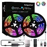 Smart LED Strip Lights 33feet, Hedynshine Music RGB Strip Lights SMD 5050 300pcs Color Change Strip Lights with Remote,Work with Alexa/Google Home,Led Strip Lights WiFi