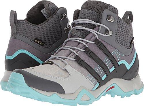 adidas Terrex Swift R Mid GTX Boot - Women's Hiking 6 Grey/Utility Black/Clear Aqua