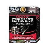 Defender - Pinchos para pájaros desconocidos   disuasorio Profesional de Acero Inoxidable   Pegamento y guía   2,5 m, Color Negro