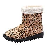 Feytuo Bottes en Coton extérieures Chaudes pour Femmes, Plus Tube de Velours Chaud Dames de la Mode, Bottes de Coton de Neige imperméables en Plein air