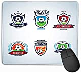 N/A Mouse Pad Soccer Logo Football Logo Set Soccer Football Crests Logo Template Emblem Designs Logotypes Design Concepts Soccer 25 * 30Cm