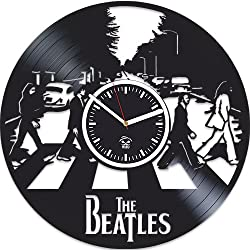 Kovides The Beatles Rock Band, Paul McCartney Lennon, Home Decals, Vinyl Wall Clock, Handmade Best Gift for Musician, Vinyl Record, Beatles Birthday Gift, Unique Design