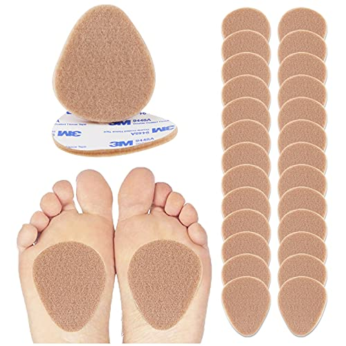 """Felt Metatarsal Pads - 12 Pairs (24 Pieces) , Ball of Foot Cushions for Forefoot and Sole Support, Foot Pain Relief, Orthotics for Women and Men, Metatarsalgia Mortons Neuroma (1/4"""" Inch Thick )"""