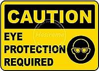 Caution Eye Protection 金属板ブリキ看板警告サイン注意サイン表示パネル情報サイン金属安全サイン