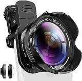 Handy Kamera Objektiv Set Phone Camera Kit mit Makro und 5K 0.56X-fachem Weitwinkelobjektiv für...