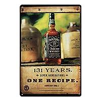 Jack Daniels Tennessee Whiskey: Ideal als Wanddekoration für Bars, Restaurants, Cafés und mehr. Material: Zinn / Metall. Hergestellt aus hochwertigem, umweltfreundlichem Wandschmuck. 4 Ecklöcher vorgebohrt für einfache Montage an Ihren Wänden. Größe:...