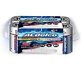 ACDelco 8-Count C Batteries, Maximum Power Super Alkaline Battery, 10-Year Shelf Life, Recloseable Packaging