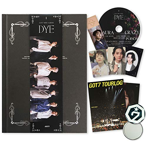 GOT7 Mini Album - DYE [ A ver. ] CD + Photobook + Mirror Card + Bookmark + Photocards + TOURLOG PHOTO ESSAY + LYRICS POSTCARD + OFFICIAL POSTER + FREE GIFT