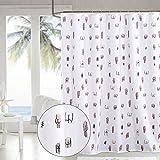 "Shuyi Spoof Taste Funny Interesting Cartoon Design Shower Curtain Set Waterproof Polyester Fabric 72"" x 72"" - White"