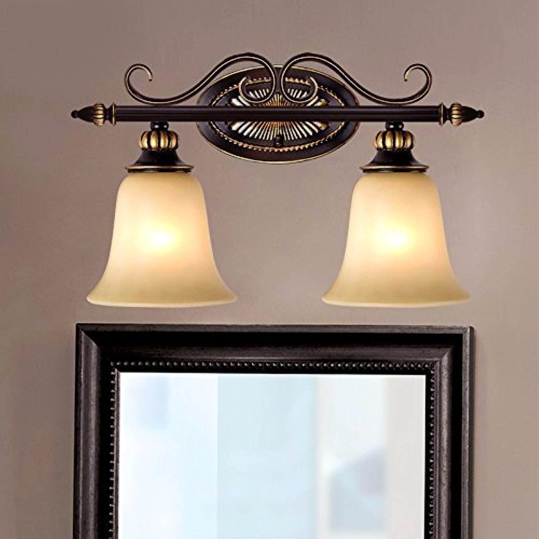 StiefelU LED Wandleuchte nach oben und unten Wandleuchten Spiegel vorne Lampen Eisen antik Wandleuchte, warmes Licht, 40 CM