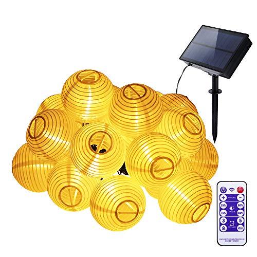 Youool farolas lampara solares exterior,farolillos solares para jardin 6 M 30 LED Luces de Navidad de alambre de cobre a prueba de agua para jardín, balcón, patio, boda, fiesta