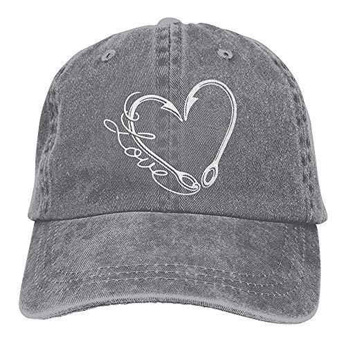 Egoa verrekijker kap unisexliefdes-vissen-denim wijnoogst-verrekijker hoed chique verstelbare honkbalmuts