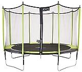 Kangui - Trampoline de Jardin 426 cm + Filet de sécurité JUMPI Vert/Noir 430