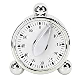 60 Minutes Kitchen Timer, Battery-Free Mechanical Timer, Manual...