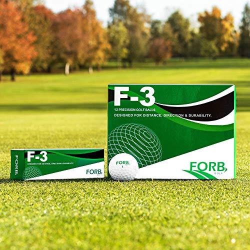 FORB Bolas de Golf – Pelotas F-3 o F-5 para Mayor Control, Velocidad & Distancia (FORB F-3, Pack de 3)