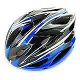 UPANBIKE Casco de Bicicleta Casco de Ciclismo Ajustable de Una Pieza con Visera para Hombres y Mujeres(Azul + Negro)