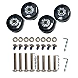 YongXuan 4 Wheels Wear-Resistant Mute Luggage Suitcase Replacement Wheels Rubber Swivel Caster Wheels Repair Kits (45mm × 18mm)
