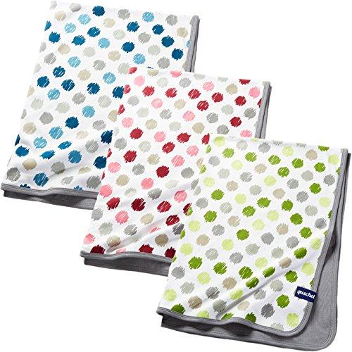 Babydecke/Kuscheldecke grün aus 100% Bio-Baumwolle. Atmungsaktiv, pflegeleicht, kuschelig weich. Größe 75x100 cm, Geschenkschachtel inklusive, GOTS zertifiziert.