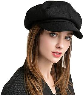 SIYWINA Dam Newsboy mössa ull vinterhattar bagare pojke hattar justerbar för damer