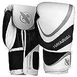 Hayabusa H5 Boxing Glove for Men and Women - White/Grey, 12 oz