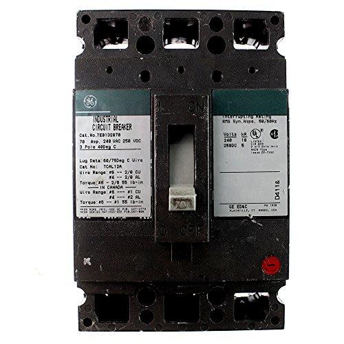 GE TEB132070 Industrial Circuit Breaker, 70A, 240VAC, 3-Pole, TEB