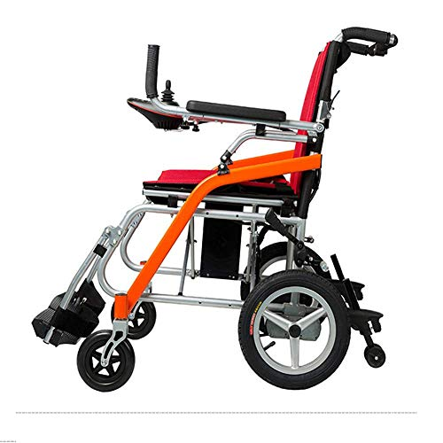 FLZ Rollstuhl Luxus faltbarer elektrischer kompakter mobiler Hilfsrollstuhl, leichter zusammenklappbarer tragbarer elektrischer Rollstuhl