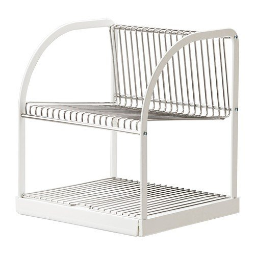 IKEA BESTAENDE - Abtropfgestell, Silber-Farbe, weiß - 32x29x36 cm
