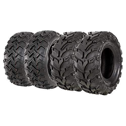 Set of FOUR New VANACC ATV Tires 24x8-12 Front and 24x10-11 Rear 6PR Deep Tread Mud